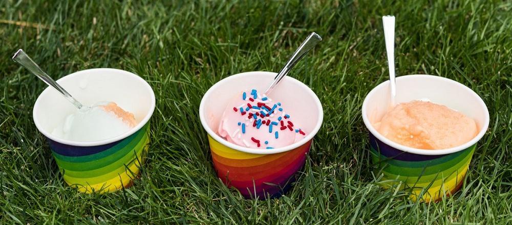 disposable ice cream cups