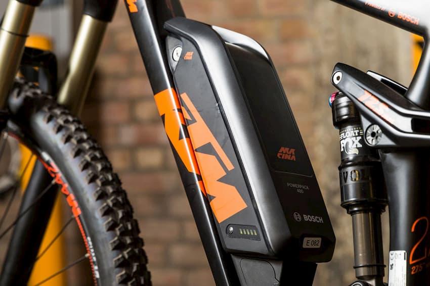 battery on electric bike