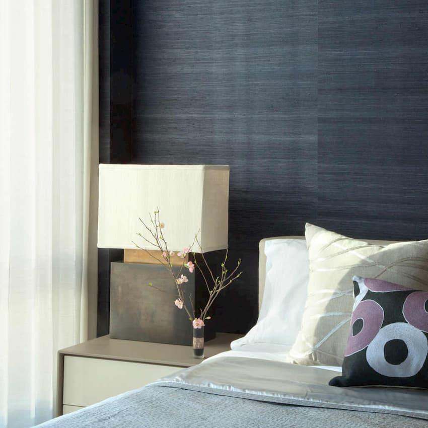 grasscloth wallpaper bedroom