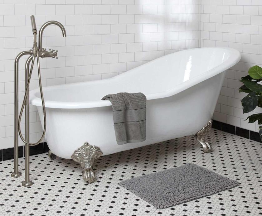 claw foot bath white