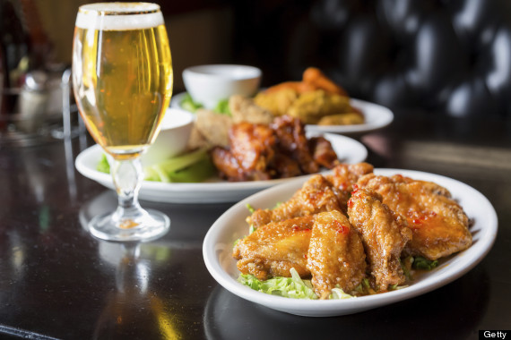 Beer with chicken