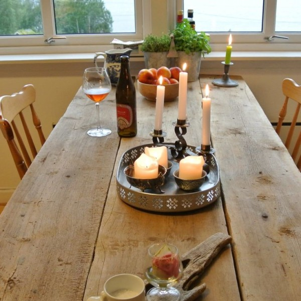 Decorative Rustic Table in Kitchen