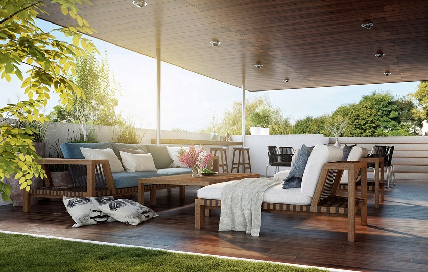 Outdoor lounge furniture embrace the full swing of spring - Dekoration lounge ...