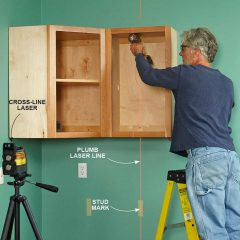 The Importance of Using a Laser Level When Installing Kitchen Cabinets