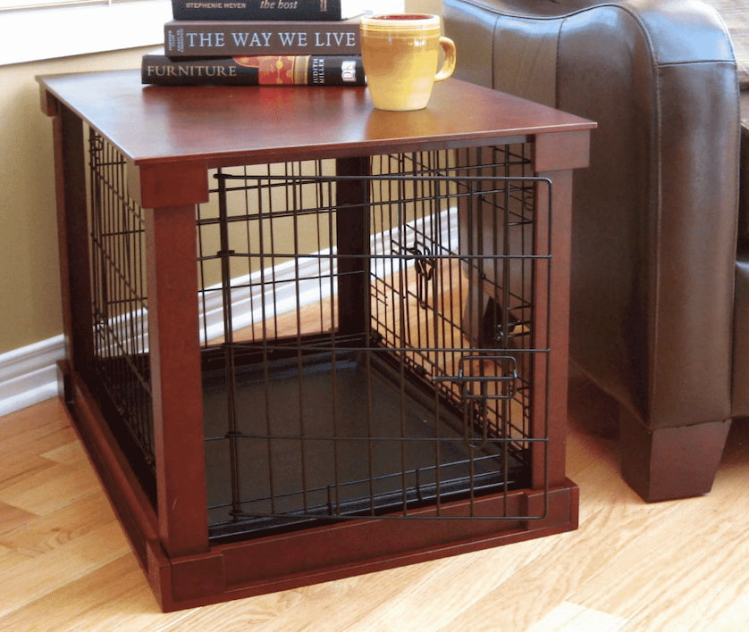 non-collapsible dog crate