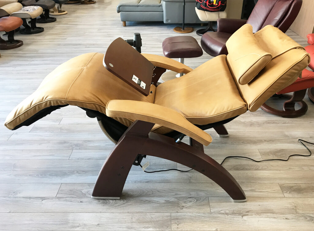 human touch chair brown