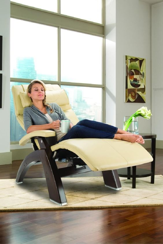 woman on a human touch chair